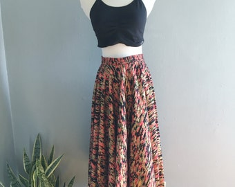 Vintage 1950s Metallic Rockabilly Circle Skirt