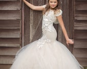 Girls mermaid dress, Kylissa couture mermaid gown