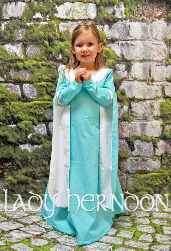 Buttercup's Blue Dress - Sizes 2T, 3T, 4T, 5, 6, 7, 8 and 10