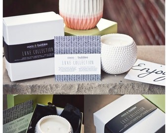 SALE // Luxe Collection // 22 oz. Ceramic Gift-Packaged Candle // All-Natural Soy Wax