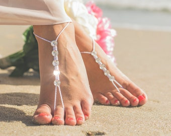 Barefoot Sandals Wedding Shoes- Boho Foot Jewelry- Beach Wedding Barefoot Sandals-Barefoot Bride- Beach Wedding- Bridesmaid Gift- MCC sandal