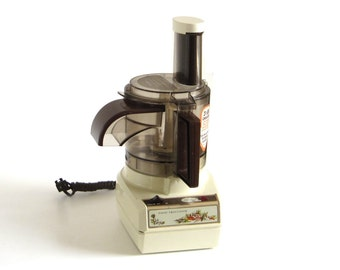 Sunbeam Vista Food Processor Catalog No. 714-48, Service No. 14-2E 1980s Kitchen Small Appliances