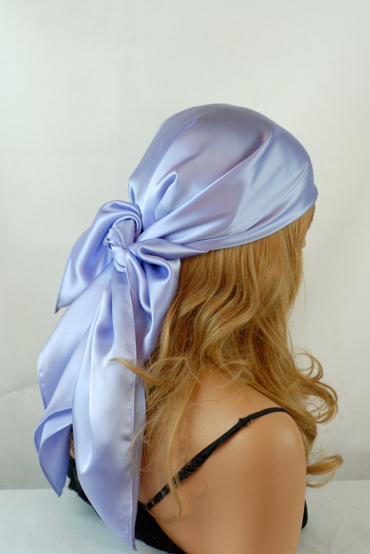 silk scarf sleep or bandana charmeuse scarf sizes lilac