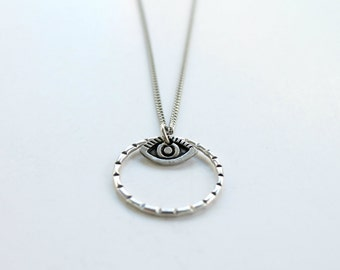 Evil Eye Silver Pendant