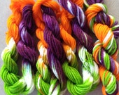 Hand Dyed Yarn - LIMITED EDTION - Bubbly Bobbly Boo