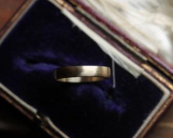Men's Wedding Band, 4mm Band, 14k Yellow Gold Wedding Ring, Satin Finish Band, Wide Band, Handmade Wedding Ring, Low-Profile Ring.