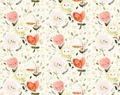 Straight Crib Skirt Happy Flowers - Floral Crib Bedding - Baby Bedding- Crib Skirt- Bed Skirt - Floral Crib Skirt -Girl Crib Skirt