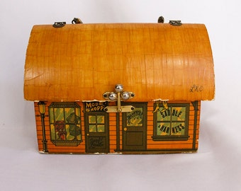 General Store Wooden Vintage Handmade Purse