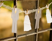 Bride + Groom Paper Layered Wedding Garland