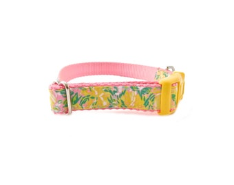 """Summer time collar, Lilly Dog Collar,  5/8"""" and 3/4"""" wide dog collar"""