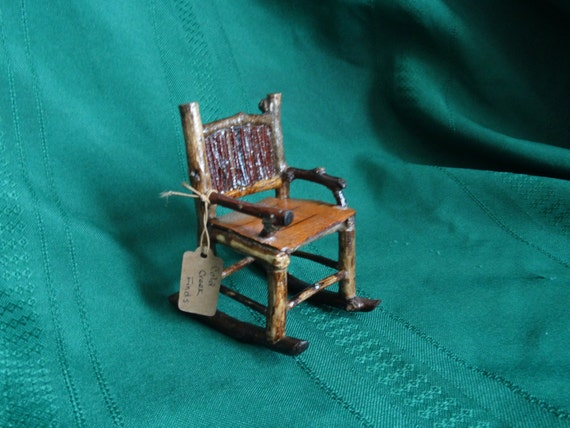 Adirondack Rustic Miniature Twig Rocking Chair handmade in the ADKs
