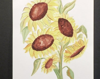Sunflowers - an original watercolor painting