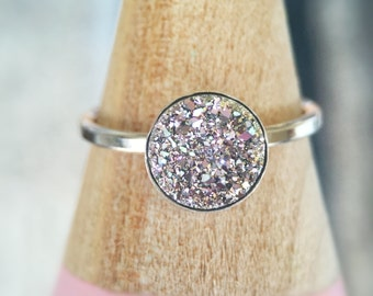 Pixie Dust Druzy Ring in Sterling Silver