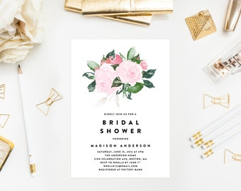 Chic Romance Bridal Shower Invitation