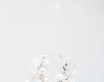 2 Available // Vintage Kosta Boda Scandinavian Modernist Icy Glass Snowball Candle Holders // Ann Warff