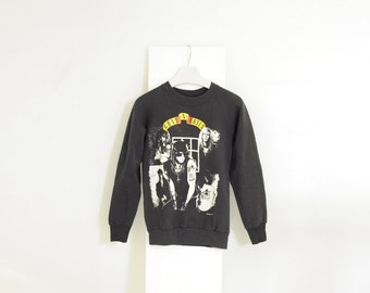 Vintage 1988 Guns N' Roses Black Sweater, Made in USA, size Small