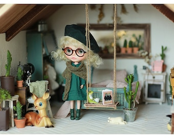 Miss yo 2016 Summer & Autumn - Vintage Dress for Blythe doll - dress / outfit - Green