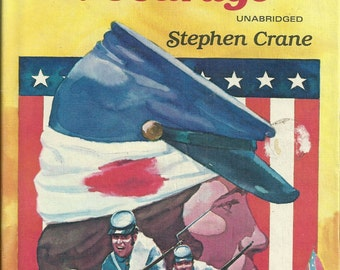 Book Hardcover The Red Badge of Courage (Unabridged) by Stephen Crane 1979 TMA72