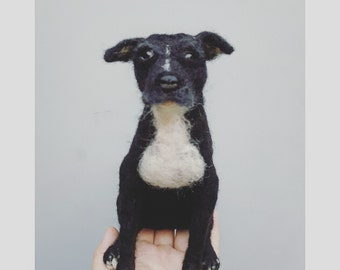 Custom pit bull sculpture, needle felted pibble, pittie dog replica, pet loss gift,  MADE to Order, felted dog memorial gift, urn decoration
