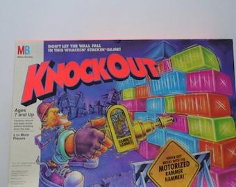 Vintage Milton Bradley Knockout Board Game 1991