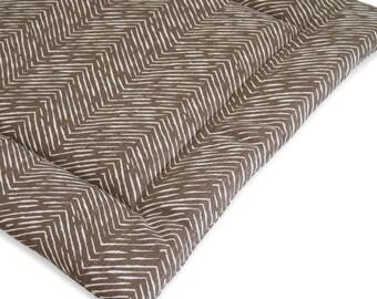 Herringbone Brown Catnip Cuddler / Brown Cat Bed / Refillable Catnip Purr Pad / Cat Furniture Mat / Cat Gift, Washable Cat Bed