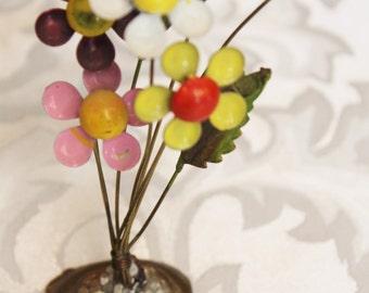 Retro Flower Paperweight - Desk Decoration