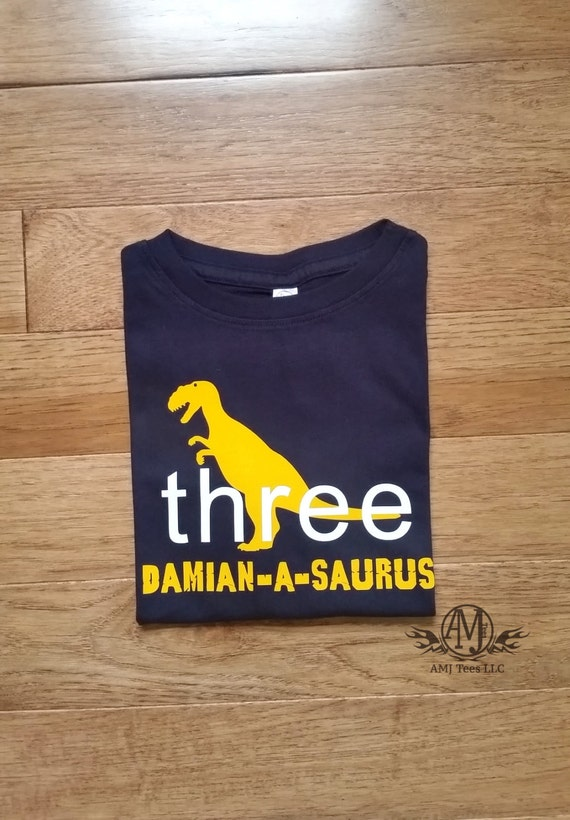 Personalized dinosaur birthday shirt, t rex dinosaur birthday shirt