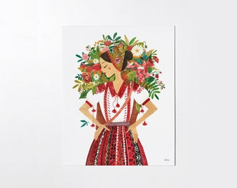 Flower Girl - 8x10 art print