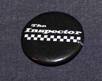 The Inspector Ska Punk Rock 1 inch Pinback Button