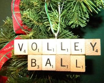 Volleyball Scrabble Ornament 7363