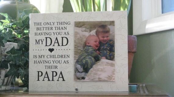 Papa Gift SELECT ANY GRANDFATHER Name Papa Frame Papa