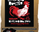 Blues Music T-shirt - Little Red Rooster from mojohand.com - FRONT PRINT