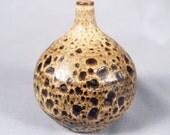 Abe Cohn, Vintage Studio Pottery, Weed Vase, Closed form, Rose Cabat era