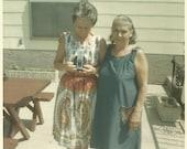 Vintage Snapshot - Color Photo - Dueling Cameras - Sixties Fashion - Vintage Camera - Found Vernacular Photo