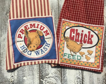 Country farm kitchen towels