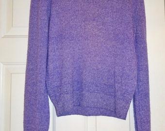 Vintage Purple Sweater Tannersport Sweater M Medium Gathered Sleeve Top Lightweight