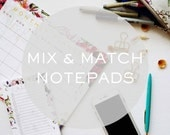 Mix and Match Notepads - Office Suite, Floral Notepad, Memo Pad, To-do list pad, Weekly Planner, Agenda