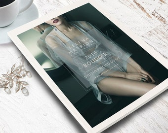 Marketing Branding Boudoir Templates Set for Photographers, Welcome Price Guide, Business Card, Trifold Brochure, Photoshop Templates, BO302