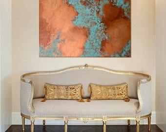 "Large Patina Painting - 36""x48"""