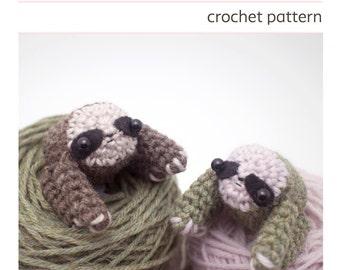 sloth amigurumi pattern - crochet  animal pattern