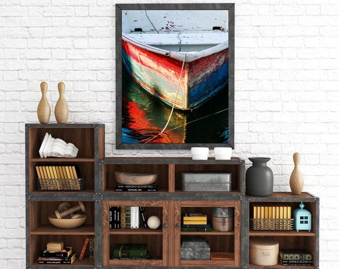 weathered rowboat canvas photo nautical boat photography
