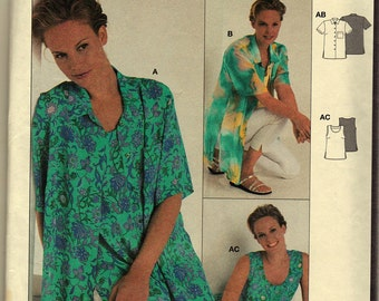 Burda  3473 Pattern BLOUSE AND TOP Misses 10-20 Uncut Factory Folded