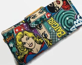 Women's Wallet, Credit Card Holder, Loyalty Card Organizer, Large Credit Card Holder, Wallets for Women, Super Girl Wallet