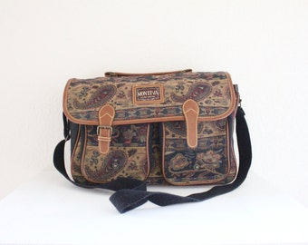 tapestry messenger tote