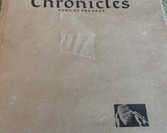 B897)  Vintage Chronicles News of the Past Book newspaper in the days of the Bible