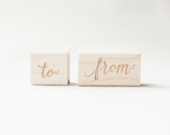 To & From Stamp Set, make your own gift tags, stamps for gifts and packaging