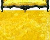 Faux Fur Area Rug - Rectangle - Shaggy Soft Yellow - Shag - Designer Fur Rugs  Fur Accents USA