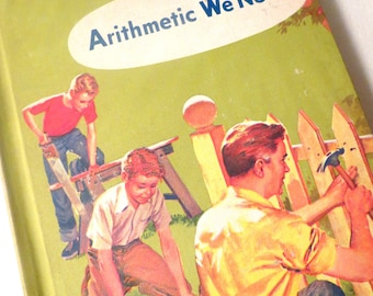 Vintage Math Book - Arithmetic We Need - 5th Grade - Old School - Textbook - Vintage Children