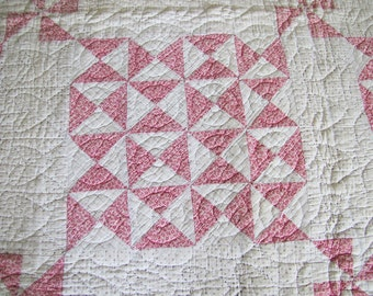 C1900 Handstitched American Cotton Patchwork Quilt ON SALE