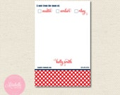 MOM OF NOTEPAD - Fun Polka Dot Pattern - Mirabelle Creations
